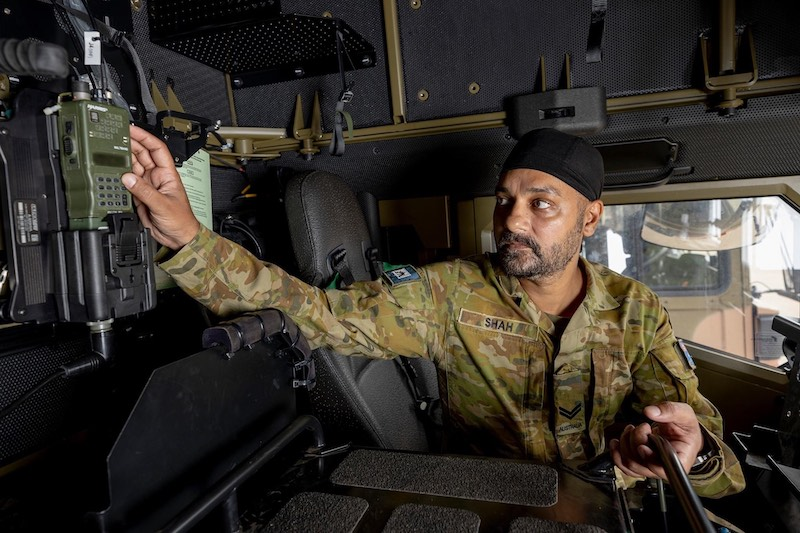 Gold commendation for Aussie Sikh corporal with exemplary technical skills